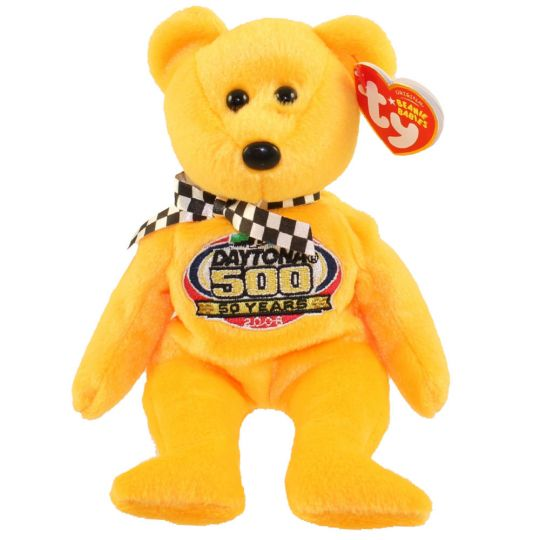 TY Beanie Baby - RACING GOLD the Nascar Bear ( Yellow Version ) (8.5 inch)  (Mint)  Sell2BBNovelties.com  Sell TY Beanie Babies 34f4ebc8118