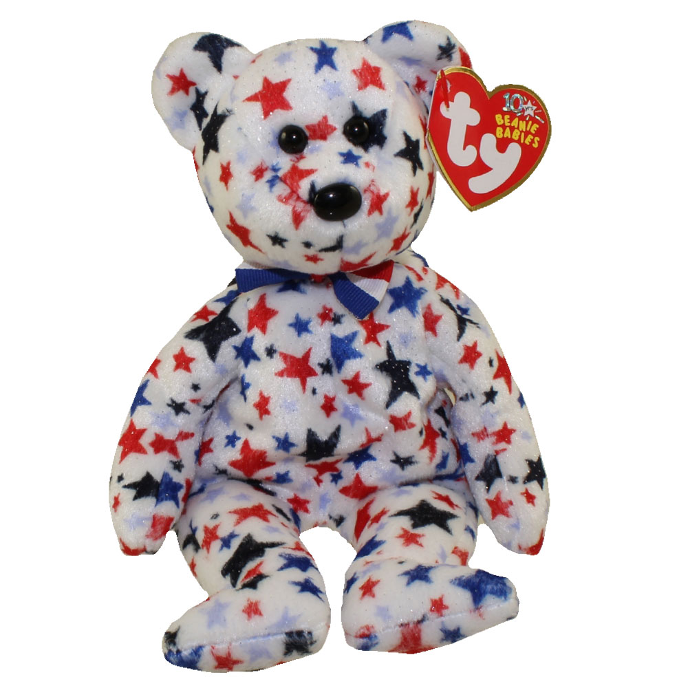 Ty Beanie Baby Red White Amp Blue The Bear 8 5 Inch