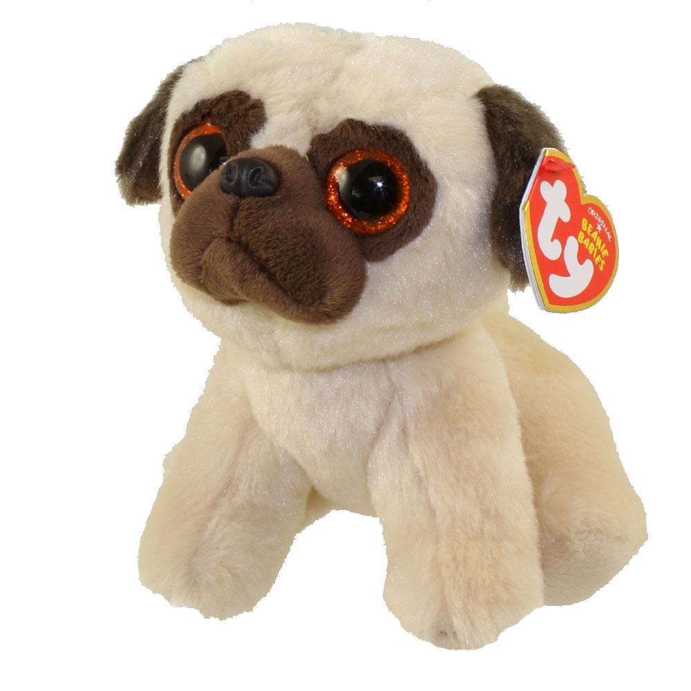 Ty Beanie Baby Rufus The Pug Dog 6 Inch Mint