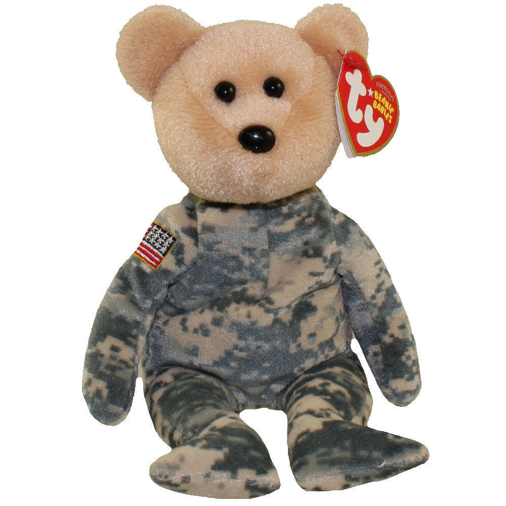 MINT with MINT TAG TY SALUTE the BEAR BEANIE BABY