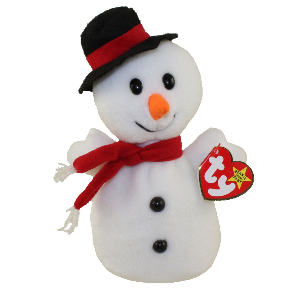 Ty Beanie Baby Snowball The Snowman 7 5 Inch Mint