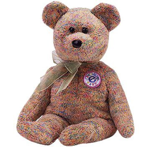 Ty Beanie Baby Speckles The E Bear 8 5 Inch Mint