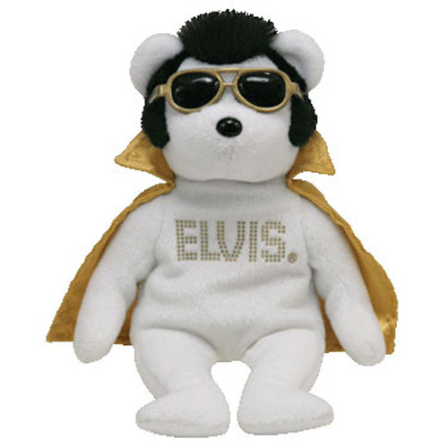 TY Beanie Baby - TEDDY BEAR the Elvis Bear (8.5 inch) (Mint)   Sell2BBNovelties.com  Sell TY Beanie Babies c56c6907d2e