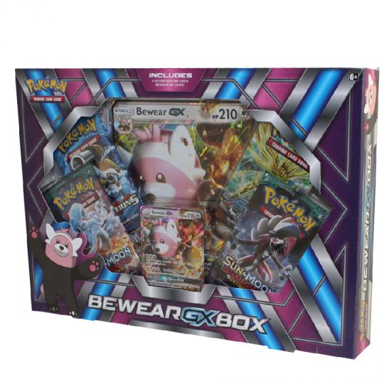 Pokemon Cards BEWEAR GX BOX - New Sealed 1 Foil, 1 Oversize Foil, 4 Packs