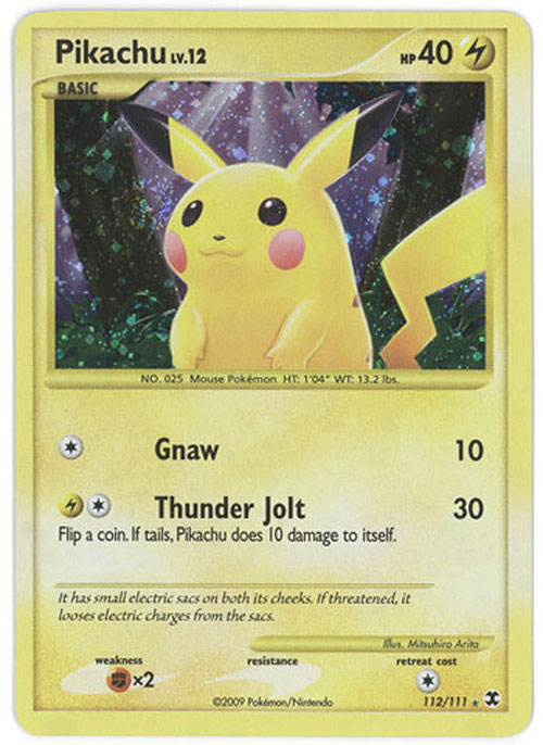 Pokemon Card Rising Rivals 112 111 Pikachu Holo Foil
