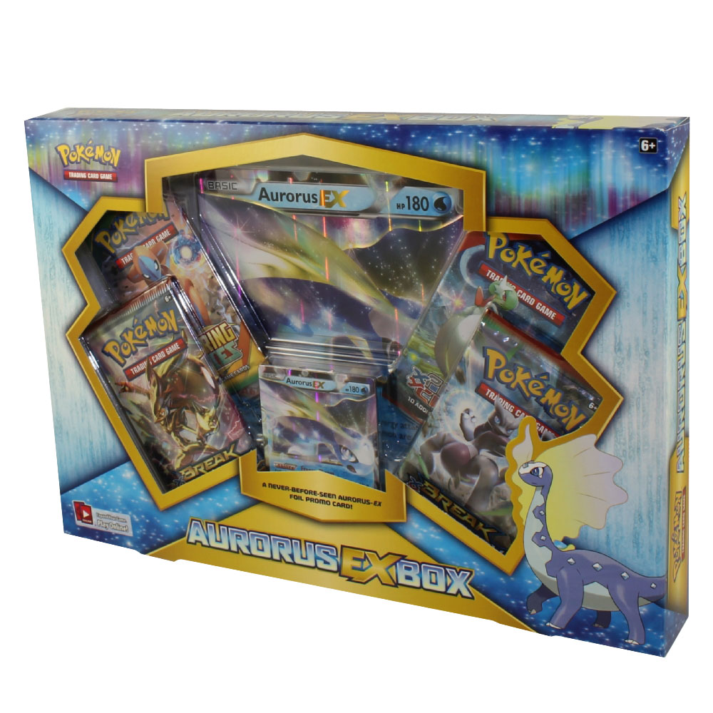 Pokemon Cards Aurorus Ex Box 4 Boosters 1 Jumbo Foil 1 Special Foil New