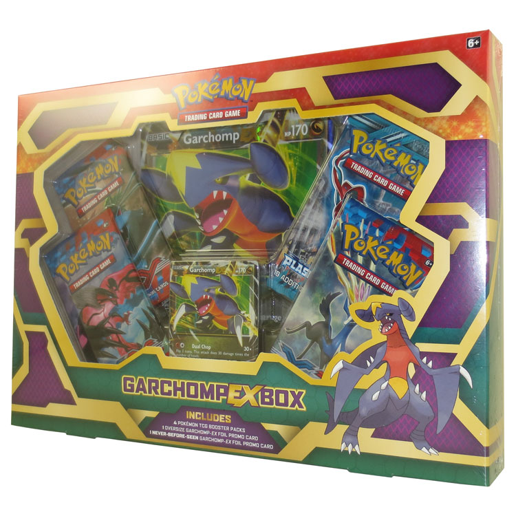 Pokemon Cards Garchomp Ex Box 1 Holo 1 Jumbo Card 4 Boosters New