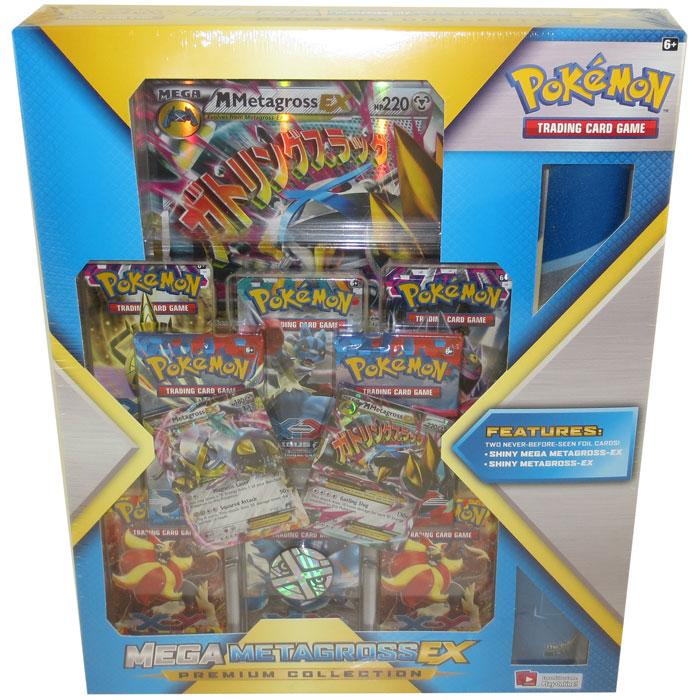 Pokemon Cards Mega Metagross Ex Premium Collection 1 Jumbo 2 Shiny Ex Cards 8 Packs More Ne