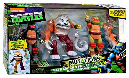 Playmates Teenage Mutant Ninja Turtles Nickelodeon Mutations Mikey Dogpound Raph 4 New In Pa Sell2bbnovelties Com Sell Ty Beanie Babies Action Figures Barbies Cards Toys Selling Online