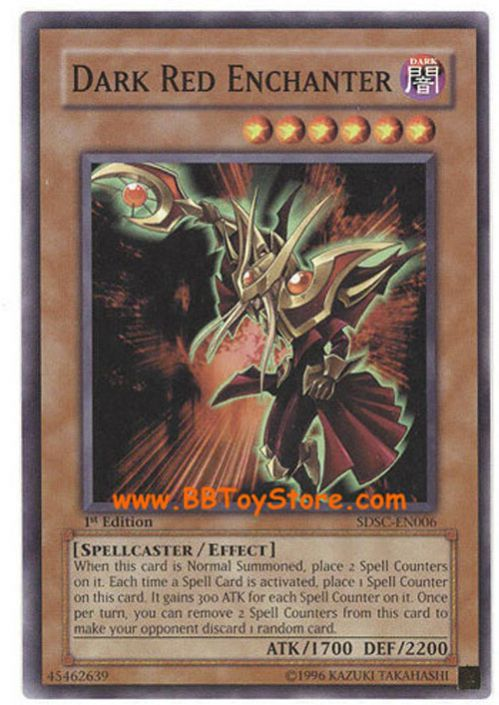 SDSC-EN006 Dark Red Enchanter 1st edition Mint Card